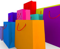 Selection of colourful shopping bags Stock Photography