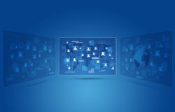 Selection Concept Blue Background Stock Photo