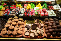 Selection of confectionery. In Barcelona Royalty Free Stock Photos