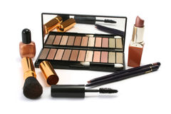 Selection of Cosmetics. Various cosmetics in earthy, autumnal colours Royalty Free Stock Images
