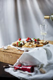 Selection of crostini and bruschetta Royalty Free Stock Images