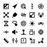 Selection, Cursors, Resize, Move, Controls and Navigation Arrows Vector Icons 3 Royalty Free Stock Images