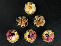 Selection of Decorated Fairy or Fancy Cakes Royalty Free Stock Photos