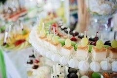Selection of decorative desserts Stock Photos