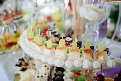 Selection of decorative desserts Stock Images