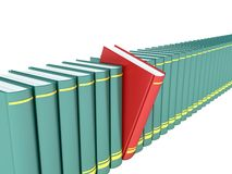 Selection of the desired book Stock Photography