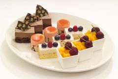 A selection of desserts Stock Photo