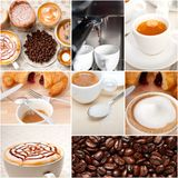 Selection of different coffee type on collage composition Stock Images
