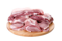 Selection of different cuts of fresh meat Royalty Free Stock Image