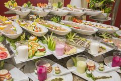 Selction of salad food at a restaurant buffet Stock Image