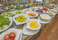 Selction of salad food at a restaurant buffet Royalty Free Stock Photography