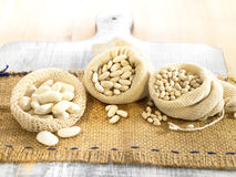 Selection of dried beans Stock Photo
