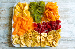 Selection of dried fruits Royalty Free Stock Photos
