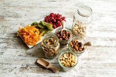 Selection of dried fruits Royalty Free Stock Images