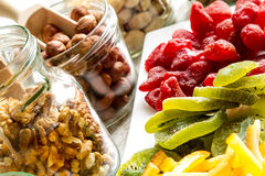 Selection of dried fruits Royalty Free Stock Image