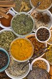 Ingredients - Dried Herbs and Spices Royalty Free Stock Photo