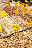 Selection of dried nuts royalty free stock photo