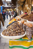 Selection of dry dates on a traditional Moroccan market (souk) i Stock Photos