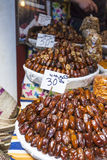 Selection of dry dates on a traditional Moroccan market (souk) i Stock Image