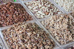 Selection of dry fruits sold at an Arabic market stall Stock Image