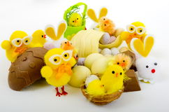 A Selection of Easter Eggs royalty free stock images