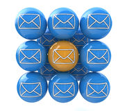Selection email Royalty Free Stock Images