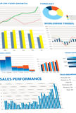Selection of financial and economic graphs Stock Image