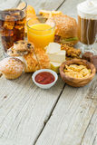 Selection of food that is bad for your health Royalty Free Stock Photography