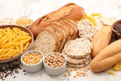 Selection of food gluten free royalty free stock photos