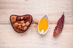 Selection food sources of omega 3 and unsaturated fats.  Stock Photography