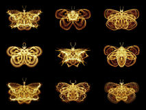 Selection of Fractal Butterflies Royalty Free Stock Image