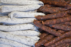 Selection of French Sausages Stock Photo