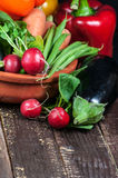 Selection of fresh fruits and vegetables Stock Photo