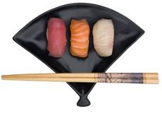Selection of Fresh Nigiri Stock Photography