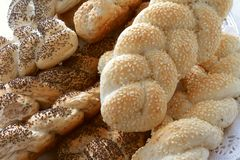 Selection of fresh plaited bread Stock Image