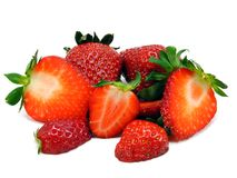 Selection of fresh strawberries Stock Photos