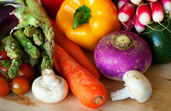 Selection of fresh vegetables Royalty Free Stock Photography