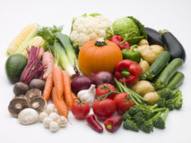 Selection Of Fresh Vegetables Stock Photos