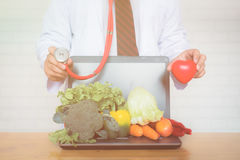 A selection of fresh vegetables for a heart healthy diet Stock Photography