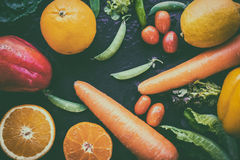 A selection of fresh vegetables for a heart healthy diet as recommended by doctors Stock Image