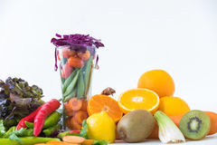A selection of fresh vegetables for a heart healthy diet as recommended by doctors. And medical professionals Stock Image