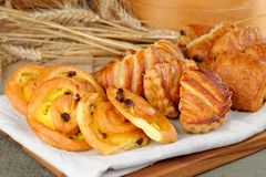 Selection of freshly made pastries Stock Photo