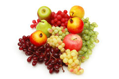 Selection of fruits isolated Stock Images