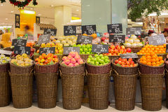 Selection fruits in supermarket Siam Paragon.  Bangkok, Thailand Stock Photography