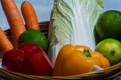 Selection fruits and vegetables Royalty Free Stock Photography