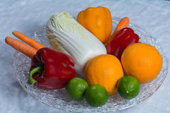 Selection fruits and vegetables Stock Image