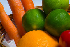 Selection fruits and vegetables. Selection of different fruits and vegetables stock photography