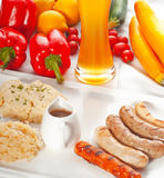 Selection  of german wurstel saussages Stock Photos