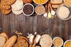 Gluten free food. Selection of gluten free food stock photography
