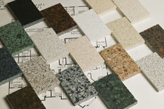 Selection of granite stone Royalty Free Stock Image